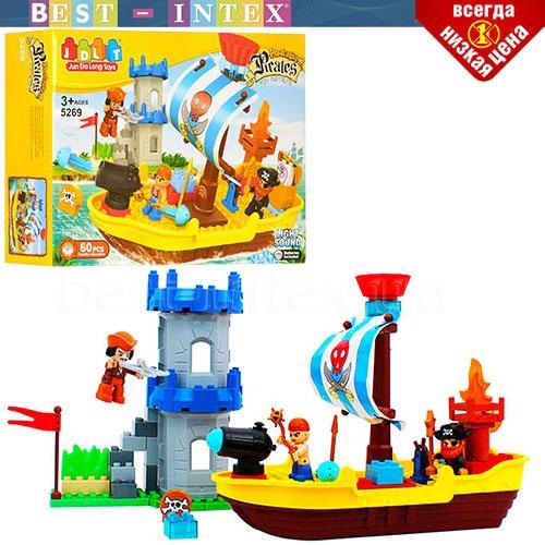 Конструктор JDLT 5269 Замок пиратов (60 деталей)