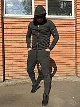 Серый спортивный костюм мужской Open (Турция) {S}