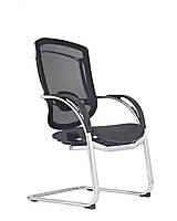 Marrit C-35E кресло для конференц залов на полозьях из хромированной стали от GTCHAIR, GT-25 серый
