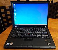Ноутбук, notebook, Lenovo ThinkPad T61, 2 ядра по 2,0 ГГц, 3 Гб ОЗУ, HDD 80 Гб