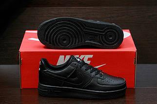 Женские кроссовкиNike Air Force женская обувь кроссовки черные найк, фото 3