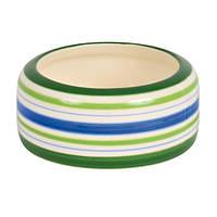 Trixie Ceramic Bowl миска керамическая полосатая для грызунов 200мл (60806)