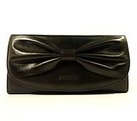 Кожаный кошелек Prensiti 42002 черный, монетница снаружи, расцветки в наличии