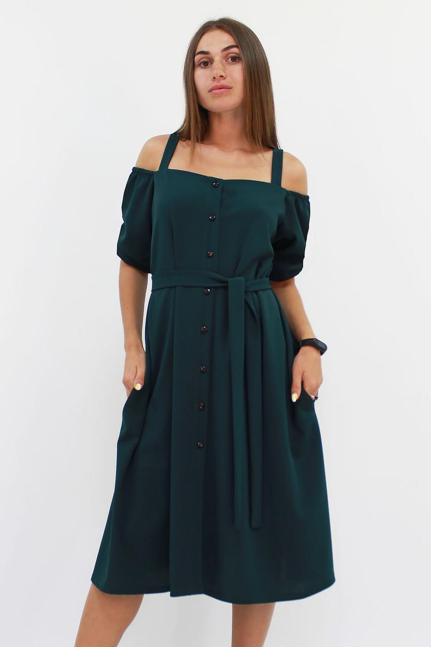 S, M, L | Зручне повсякденне плаття Francheska, темно-зелений