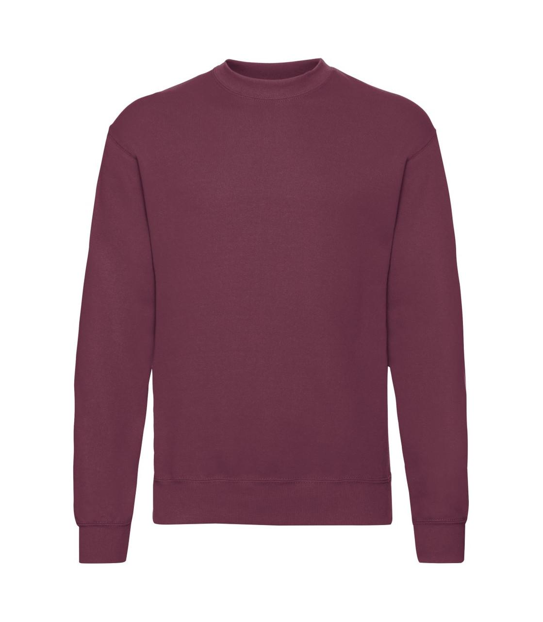Мужской свитер-реглан утепленный бордовый 202-41