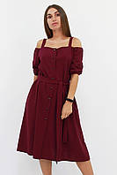 S | Зручне повсякденне плаття Francheska, марсала