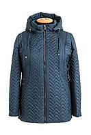 Женская демисезонная куртка большого размера  54-68  зеленый