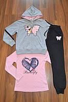 Спортивный трикотажный костюм тройка для девочек.Размеры 146-164 см.Фирма S&D. Венгрия, фото 1