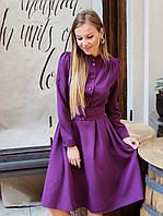 Красивое платье с расклешенной юбкой