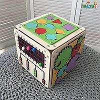 "Бизиборд ""Загадковий Куб"" 30х30х30 см, фото 1"