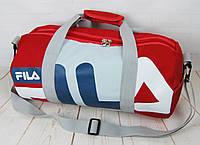 Небольшая красивая спортивная сумка бочонок Fila. Размер 44см на 23 КСС12-1