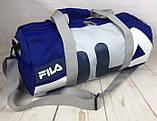 Небольшая красивая спортивная сумка бочонок Fila., фото 5