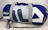 Небольшая красивая спортивная сумка бочонок Fila., фото 7