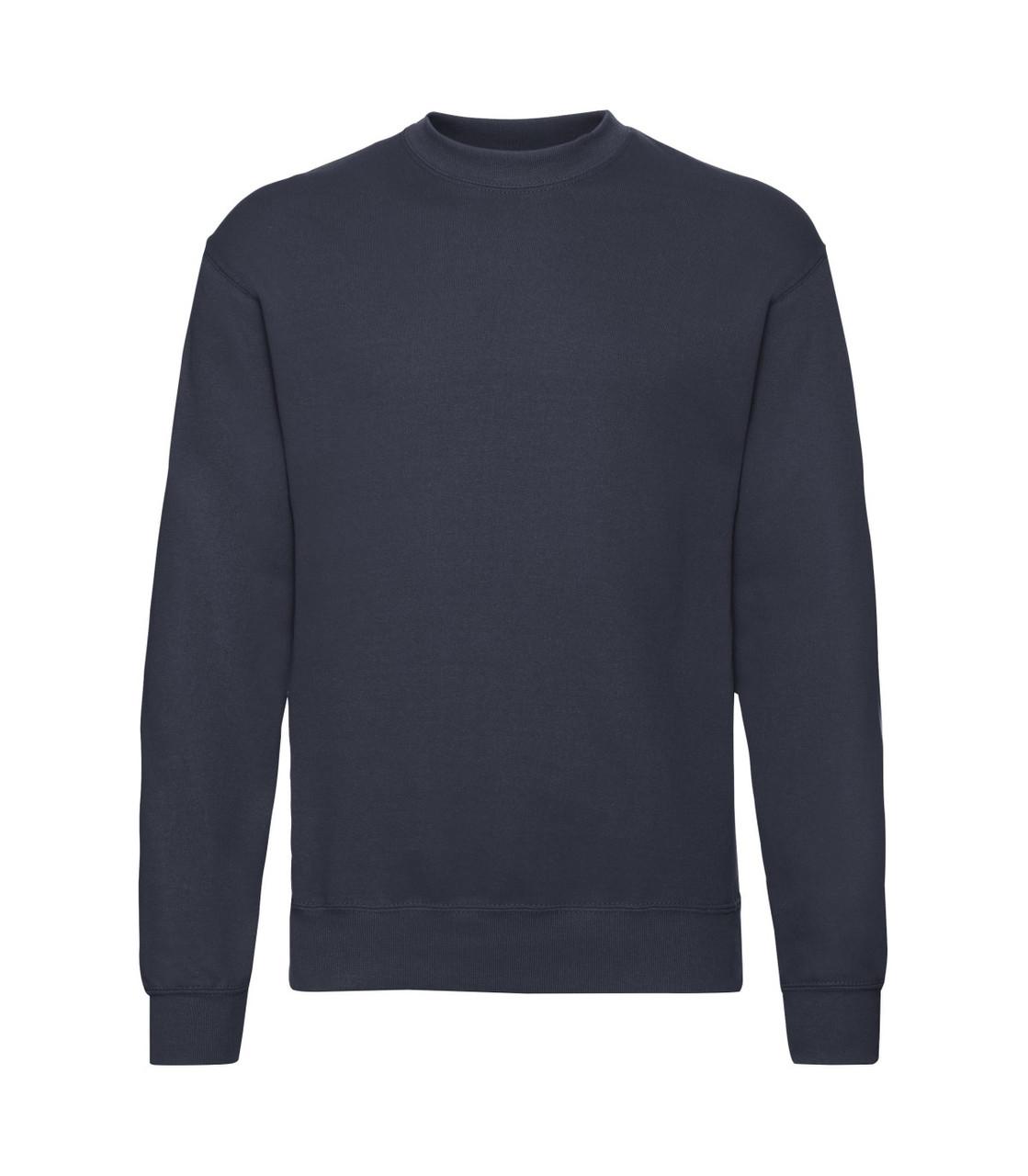 Чоловічий светр-реглан глибокий темно-синій 202-АZ