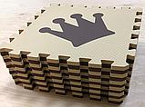 Коврик-пазл EVA , «шах і мат», сіро-бірюзовий набір 12 шт. 1,08 м2, 30х30 см, т. 8-10 мм, 100 кг/м3 TERMOIZOL®, фото 3