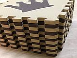 Коврик-пазл EVA , «шах і мат», сіро-бірюзовий набір 12 шт. 1,08 м2, 30х30 см, т. 8-10 мм, 100 кг/м3 TERMOIZOL®, фото 4
