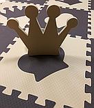 Коврик-пазл EVA , «шах і мат», сіро-бірюзовий набір 12 шт. 1,08 м2, 30х30 см, т. 8-10 мм, 100 кг/м3 TERMOIZOL®, фото 6