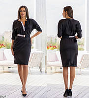 Красивое платье женское демисезонное трикотаж размер 42-46 универсальный, 3 цвета отделки
