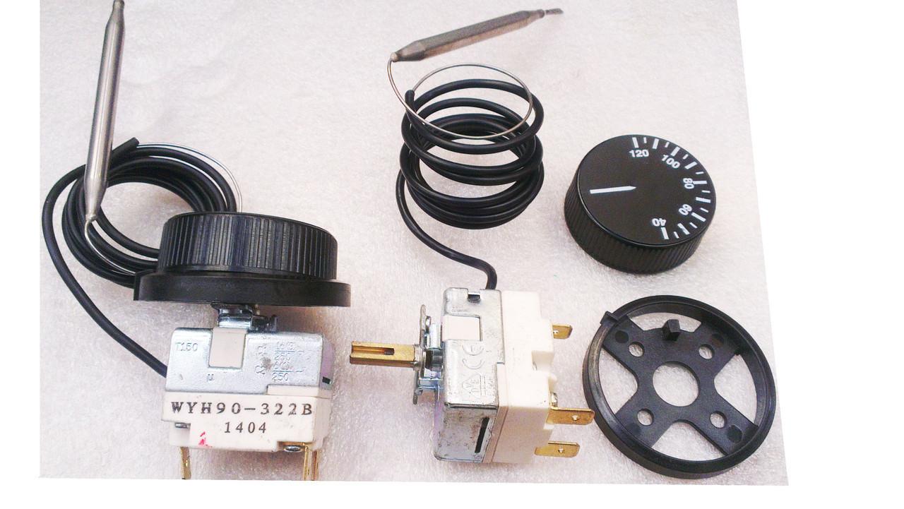 Терморегулятор  с капилляром  ( от 30-до 300 `C) ток-16А\250в(опт)