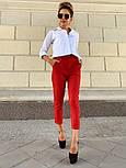 Женские стильные брюки с высокой посадкой (в расцветках), блуза отдельно, фото 5