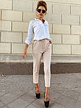 Женские стильные брюки с высокой посадкой (в расцветках), блуза отдельно, фото 4