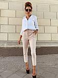 Женские стильные брюки с высокой посадкой (в расцветках), блуза отдельно, фото 3