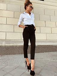 Женские стильные брюки с высокой посадкой (в расцветках), блуза отдельно