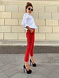 Женские стильные брюки с высокой посадкой (в расцветках), блуза отдельно, фото 6