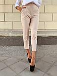 Женские стильные брюки с высокой посадкой (в расцветках), блуза отдельно, фото 8