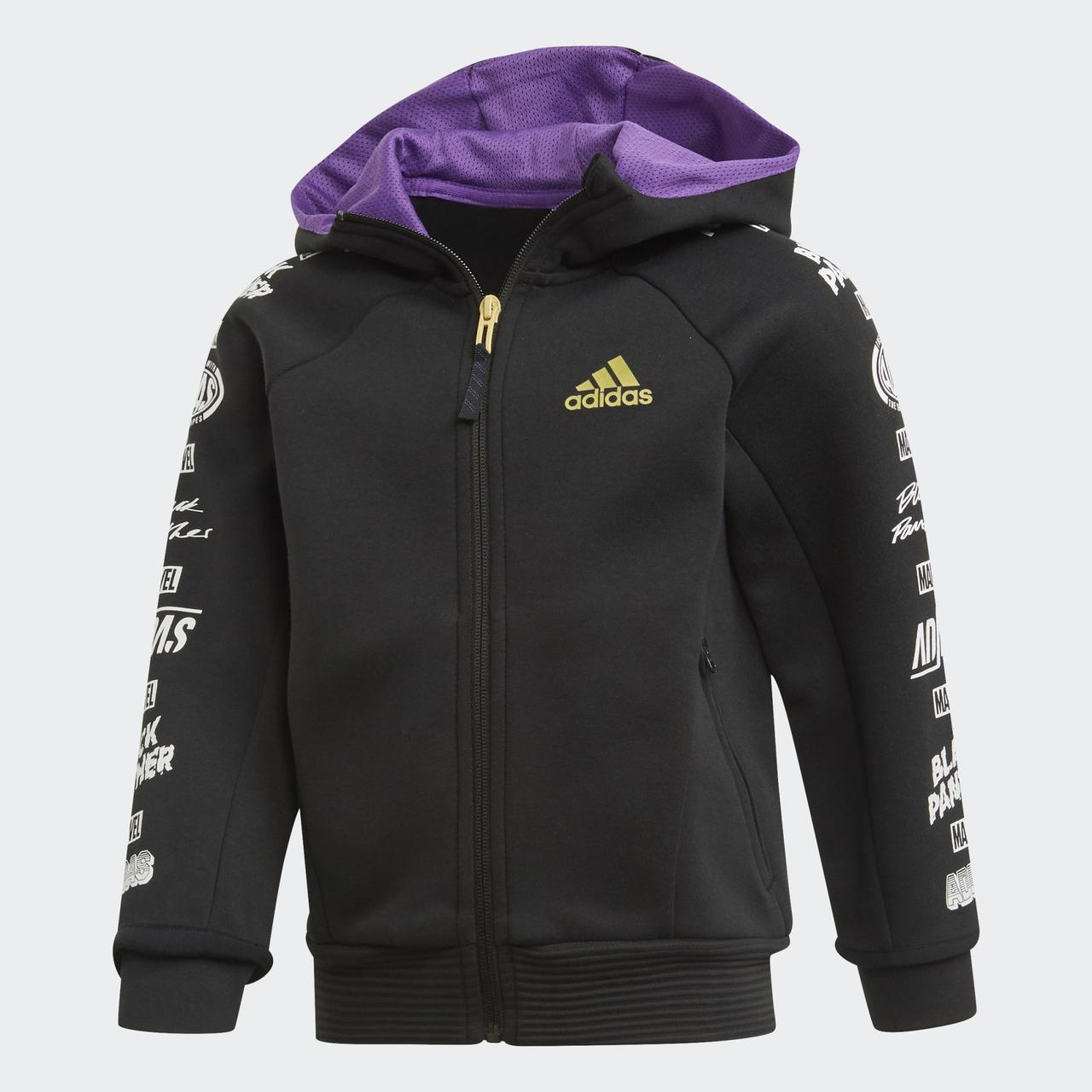 Детская толстовка Adidas Performance Marvel Black Panther ED6453