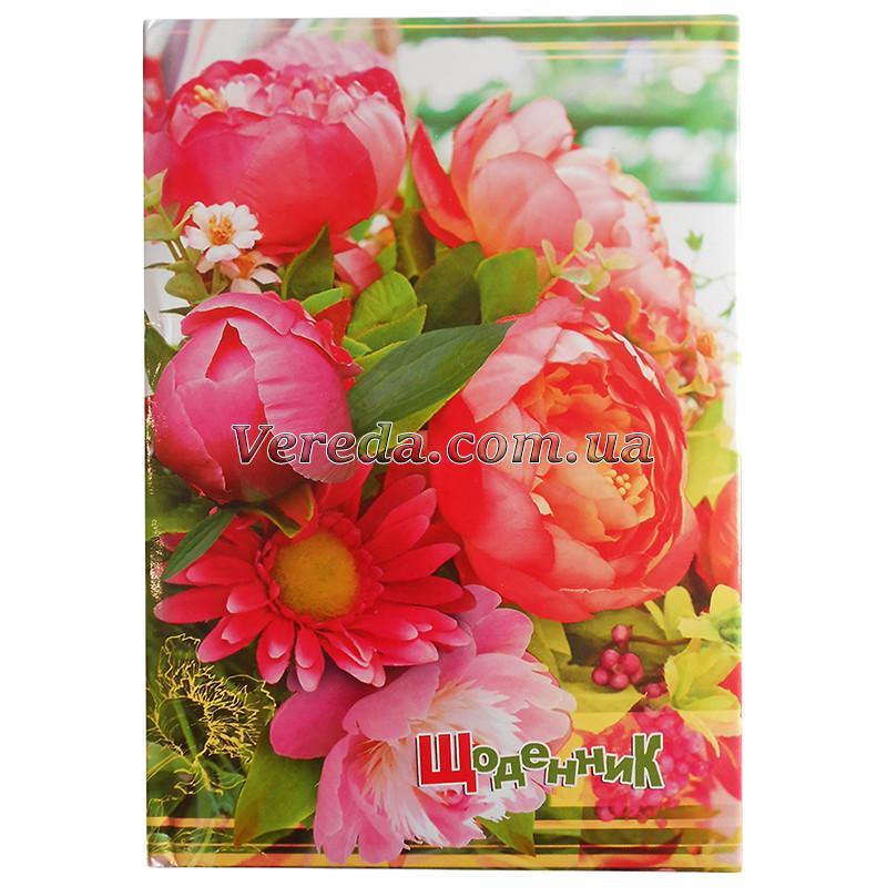 Дневник 48 листов, Розовый букет