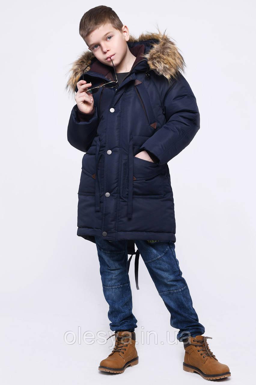 Модная куртка Парка для мальчика X-Woyz  размеры 116- 164