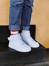 Женские кроссовкиNike Air Force женская обувь кроссовки белые найк, фото 2