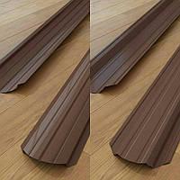 Штакетник двух сторон коричневый 8017 0,35 мм