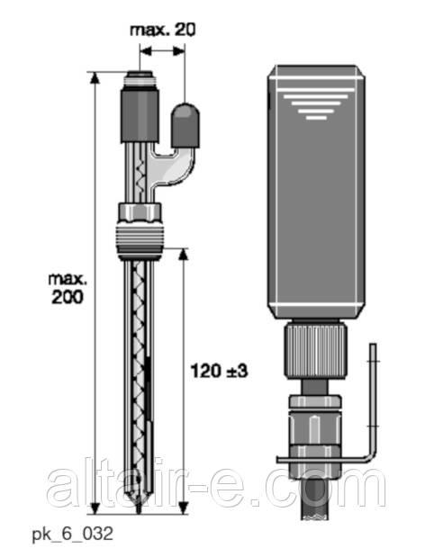Датчик редокс RedOx  RHEN-Pt-SE с возможностю пополнения электролита