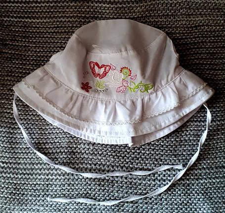 Панамка на девочку на завязках лето белого цвета (Польша) размер 46, фото 2