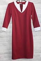 """Платье женское с V-образным вырезом, размеры 42-48 (5цв) """"KOLOR"""" купить недорого от прямого поставщика"""