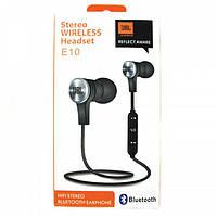Беспроводные наушники JBL MDR T-E10 черные вакуумные Bluetooth USB микрофон отличное звучание E 10 реплика