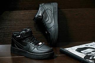 Мужские кроссовкиNike Air Force мужская обувь кроссовки черные найк, фото 3