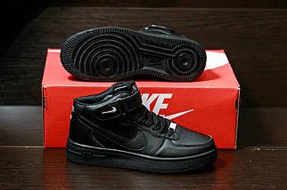 Мужские кроссовкиNike Air Force мужская обувь кроссовки черные найк, фото 2