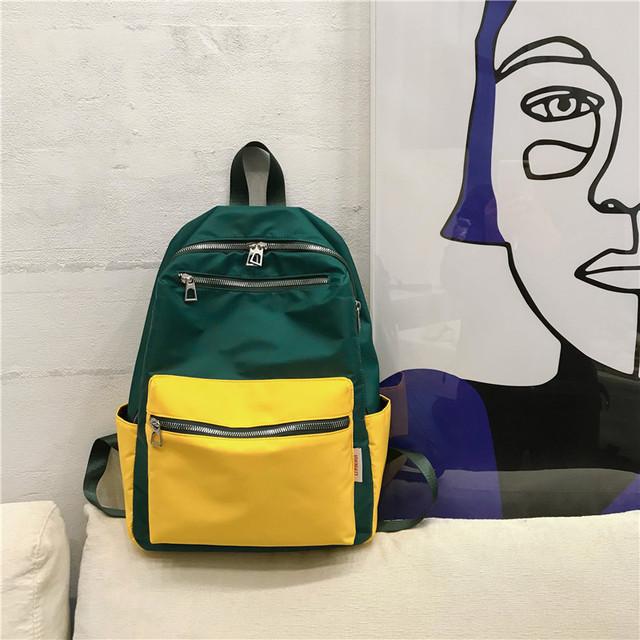 Нейлоновый рюкзак для девушки зеленый