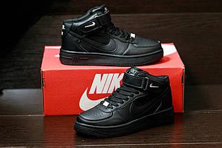 Женские кроссовкиNike Air Force женская обувь черные кроссовки найк, фото 3