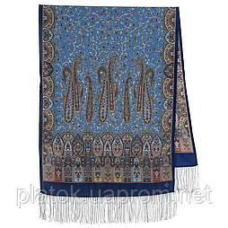 Медея 1473-64, павлопосадский вовняний шарф з шовковою бахромою