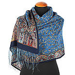 Медея 1473-64, павлопосадский шарф шерстяной  с шелковой бахромой, фото 2