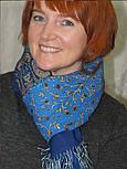 Медея 1473-64, павлопосадский шарф шерстяной  с шелковой бахромой, фото 3