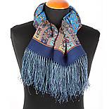 Медея 1473-64, павлопосадский шарф шерстяной  с шелковой бахромой, фото 4