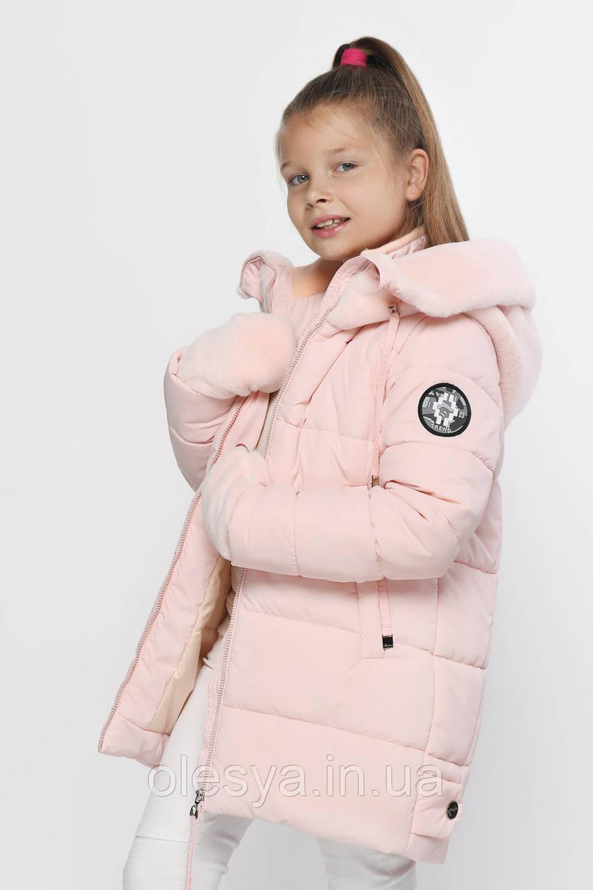 Детская зимняя куртка с митенками бренда X-Woyz  размеры 116- 164