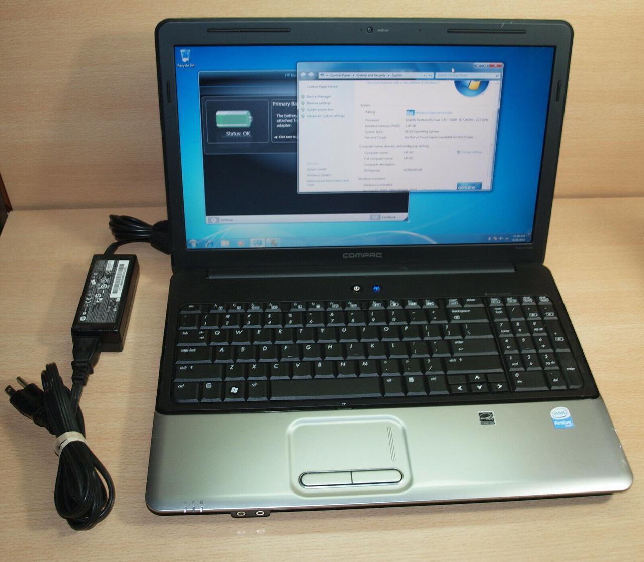 Ноутбук, notebook, HP Compaq Presario CQ60, 2 ядра по 2,1 ГГц, 2 Гб ОЗУ, HDD 250 Гб