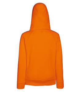 Женская толстовка на молнии XS, 44 Оранжевый