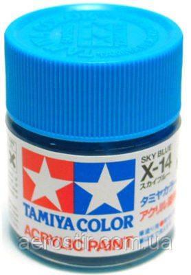 Краска Tamiya X-14  Gloss Sky Blue